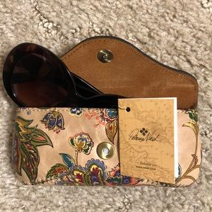 Brand new leather Patricia Nash eyeglass case